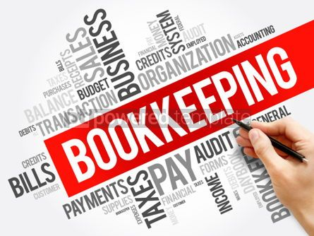 Business: Bookkeeping word cloud collage business concept background #06010