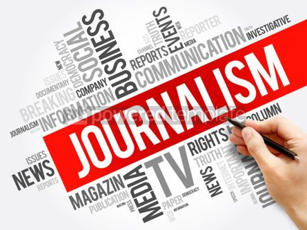 Business: Journalism word cloud collage  social concept background #06012