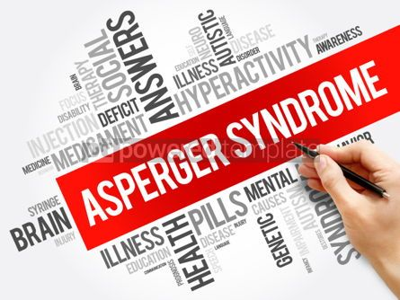 Business: Asperger syndrome word cloud collage health concept background #06014