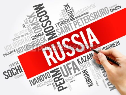 Business: List of cities and towns in Russia word cloud collage business #06015