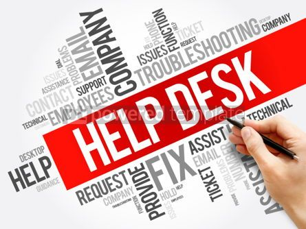 Business: Help Desk word cloud collage business concept background #06016