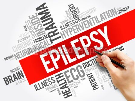 Business: Epilepsy word cloud collage health concept background #06025