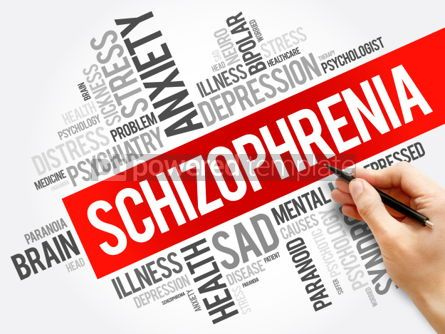 Business: Schizophrenia word cloud collage health concept background #06027