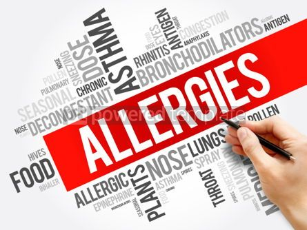 Business: Allergies word cloud collage health concept background #06028