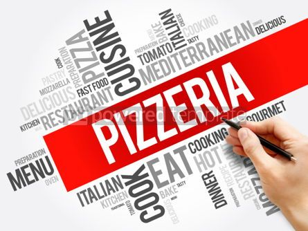Business: Pizzeria word cloud collage food concept background #06029