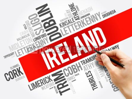 Business: List of cities in Ireland word cloud collage business and trave #06030