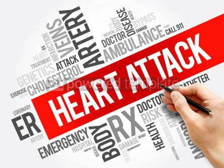 Business: Heart Attack word cloud collage health concept background #06031