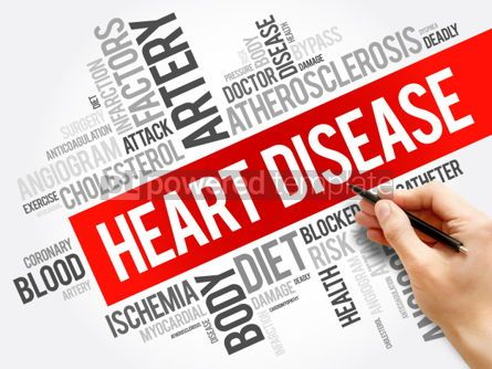 Business: Heart Disease word cloud collage health concept background #06032