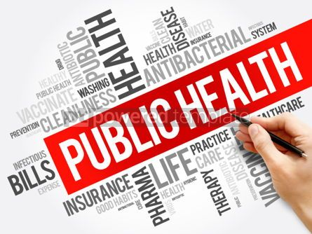 Business: Public health word cloud collage healthcare concept background #06034