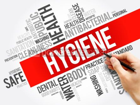 Business: Hygiene word cloud collage health concept background #06035
