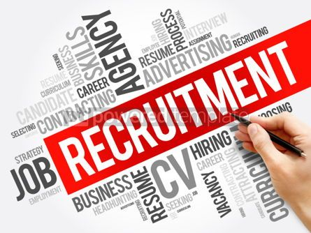 Business: Recruitment word cloud collage business concept background #06038
