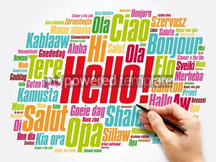 Business: Hello word cloud in different languages of the world background #06046