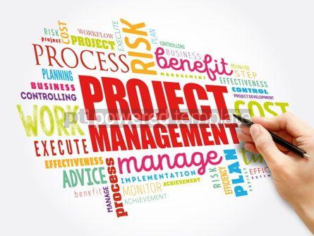 Business: Project Management word cloud collage business concept backgrou #06047