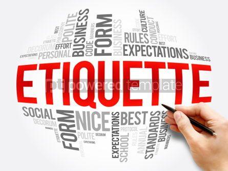 Business: Etiquette word cloud collage #06053
