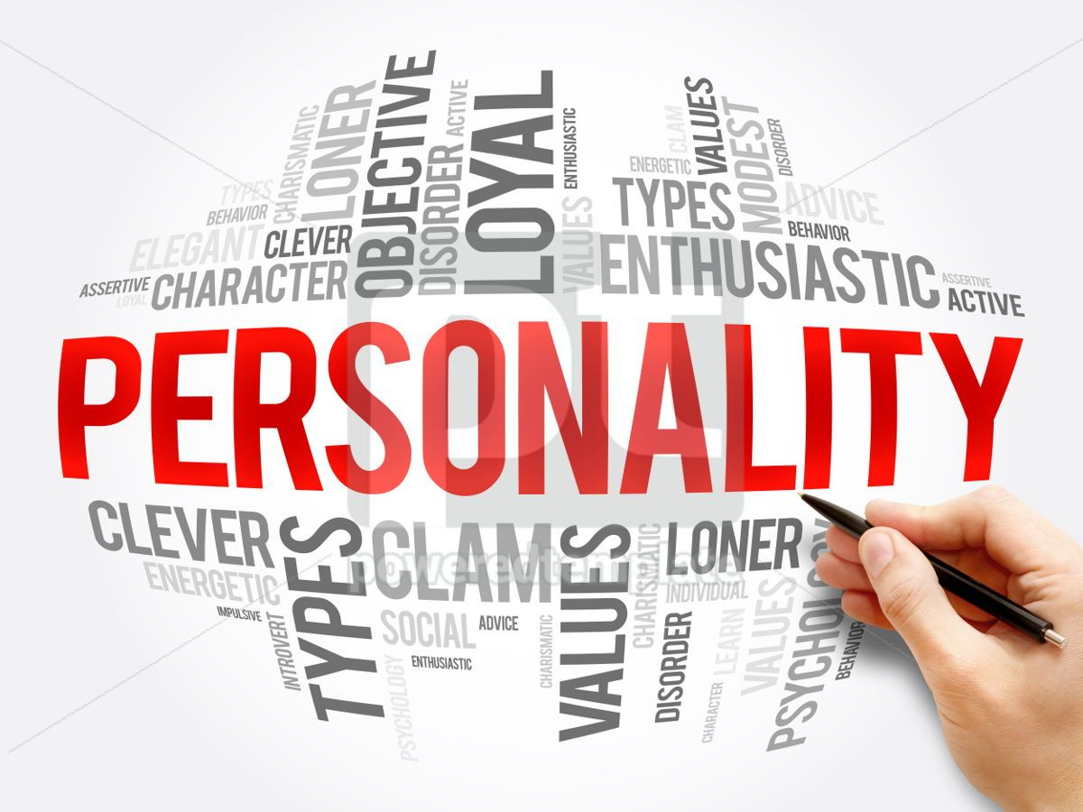 Personality word cloud collage, 06055, Business — PoweredTemplate.com