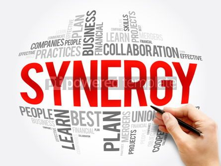 Business: Synergy word cloud collage #06063