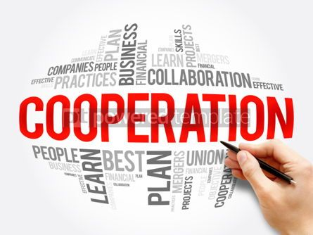 Business: Cooperation word cloud collage #06065