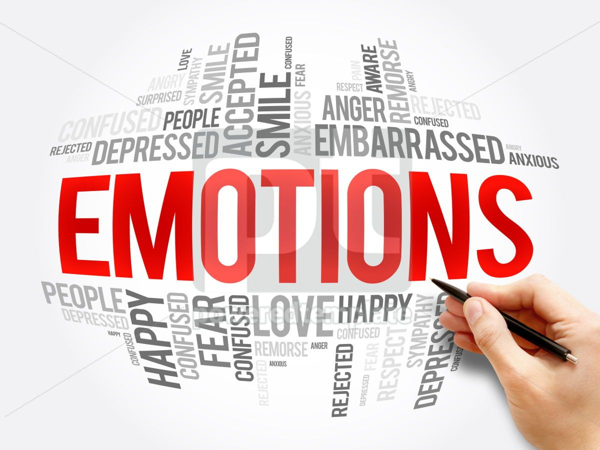 Emotions word cloud collage, 06067, Business — PoweredTemplate.com