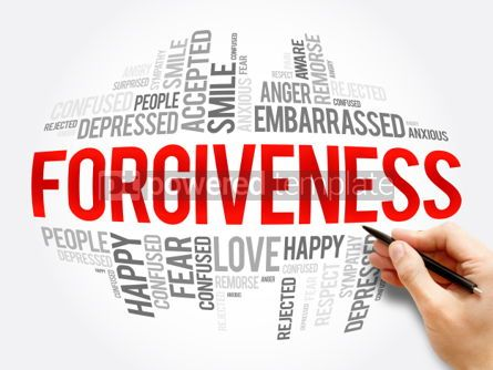 Business: Forgiveness word cloud collage #06068