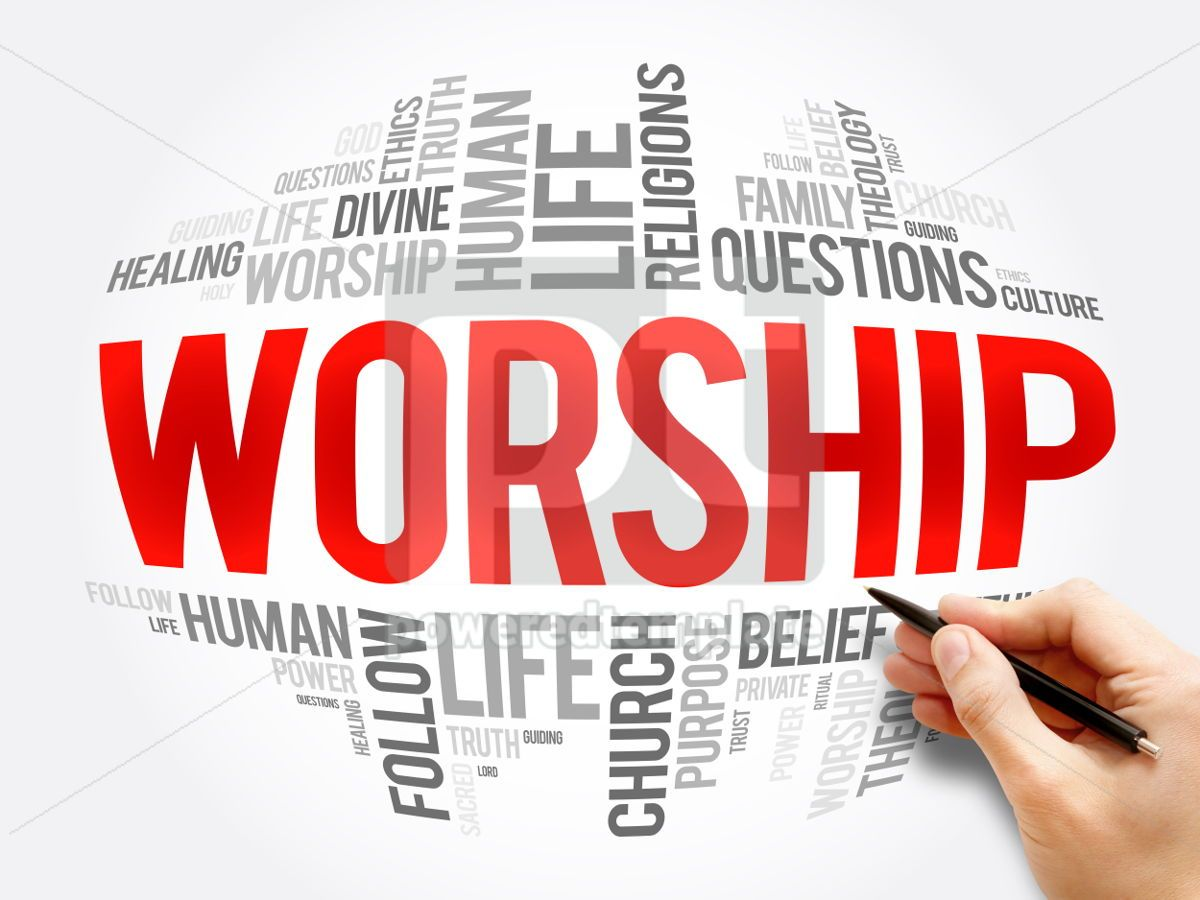 Worship word cloud collage, 06069, Business — PoweredTemplate.com