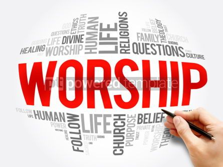 Business: Worship word cloud collage #06069