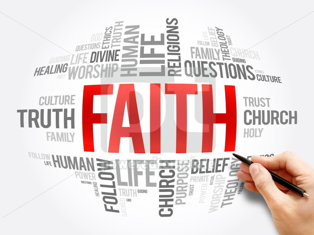 Faith word cloud collage, 06072, Business — PoweredTemplate.com