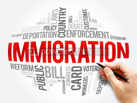 Business: Immigration word cloud collage #06074