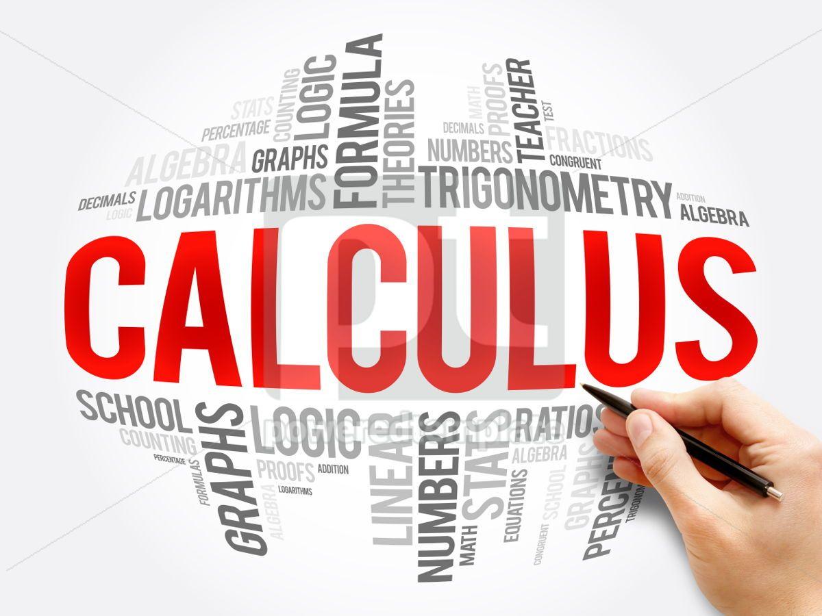 Calculus word cloud collage, 06075, Business — PoweredTemplate.com