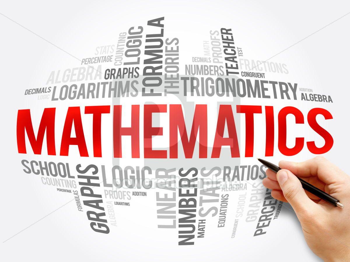Mathematics word cloud collage, 06078, Business — PoweredTemplate.com