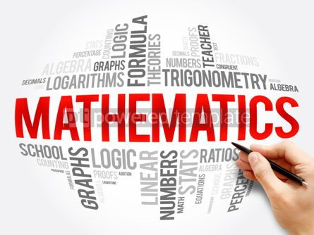Business: Mathematics word cloud collage #06078