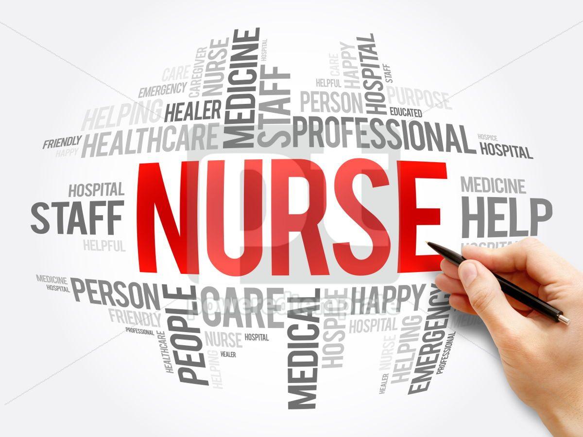 Nurse word cloud collage, 06079, Business — PoweredTemplate.com