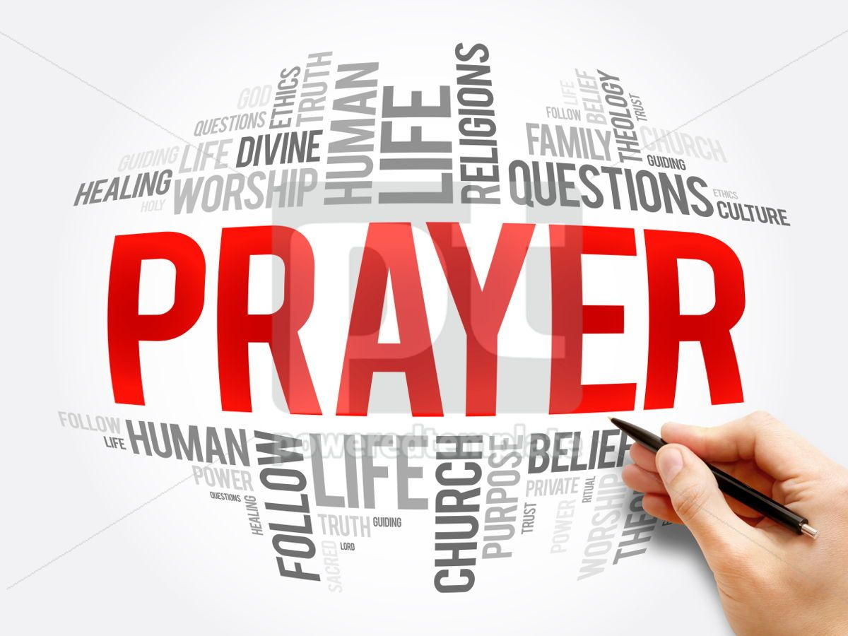 Prayer word cloud collage, 06080, Business — PoweredTemplate.com