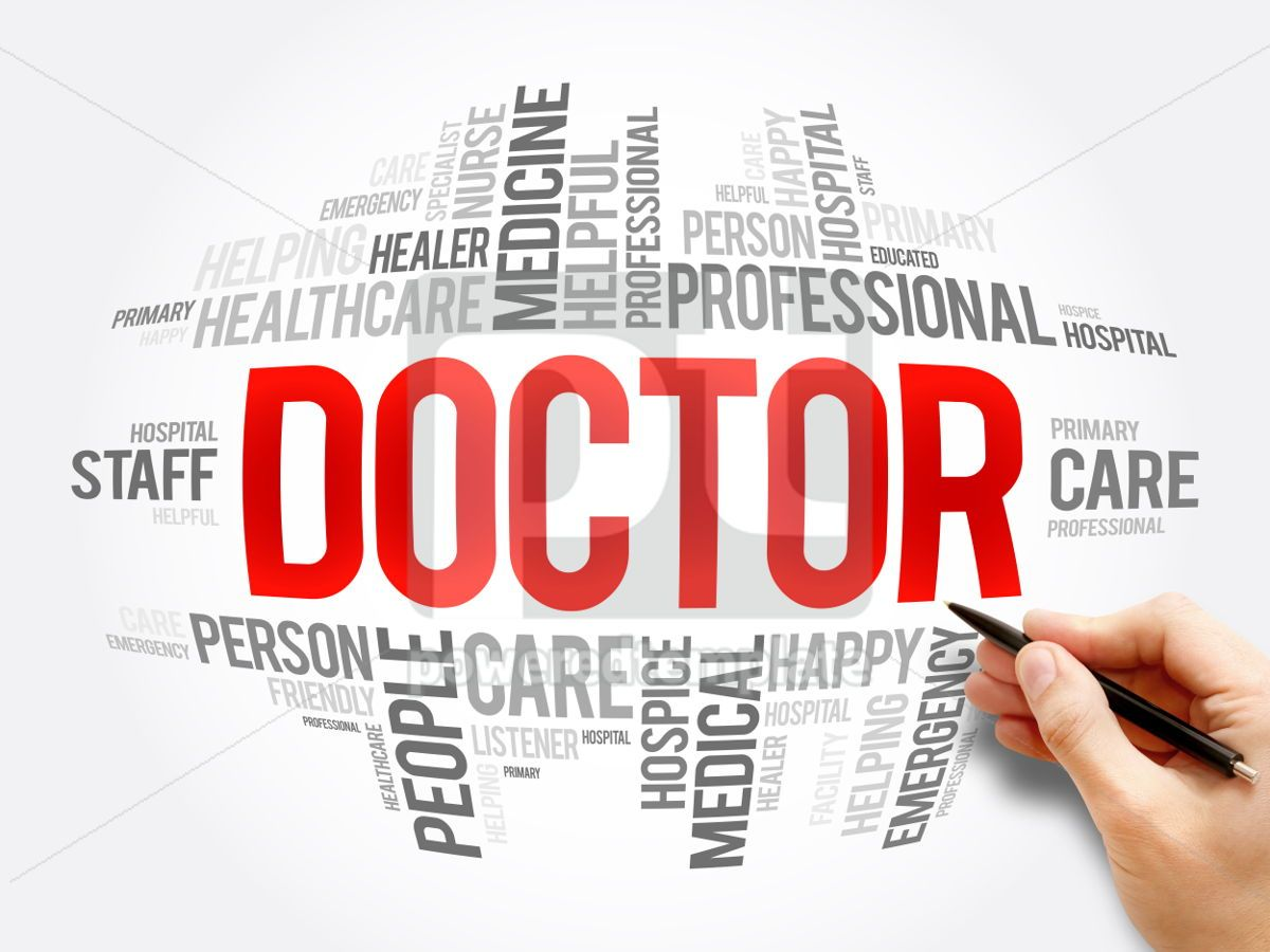 Doctor word cloud collage, 06081, Business — PoweredTemplate.com