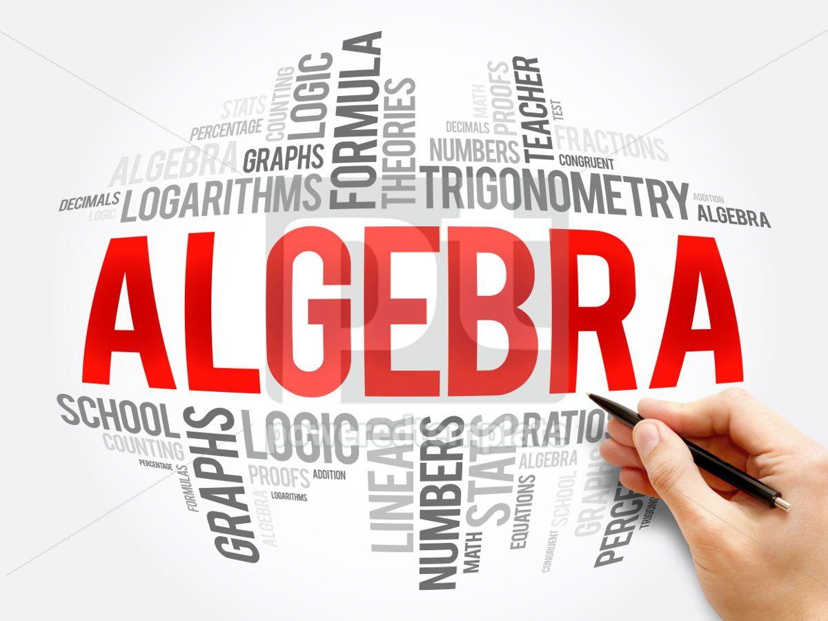 Algebra word cloud collage, 06082, Business — PoweredTemplate.com