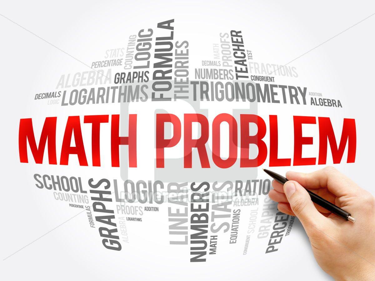 Math problem word cloud collage, 06084, Business — PoweredTemplate.com