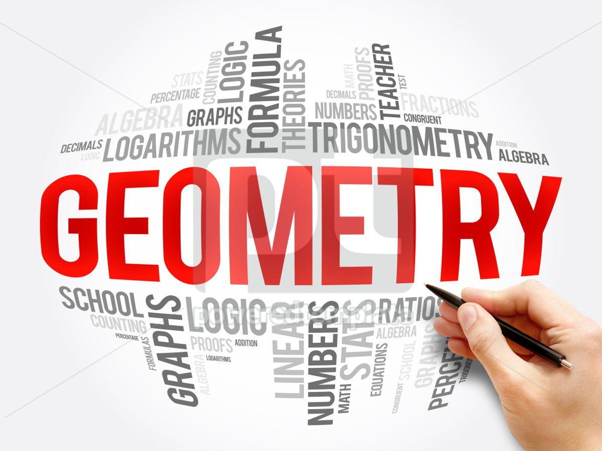 Geometry word cloud collage, 06086, Business — PoweredTemplate.com