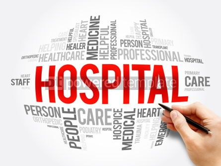 Business: Hospital word cloud collage #06091