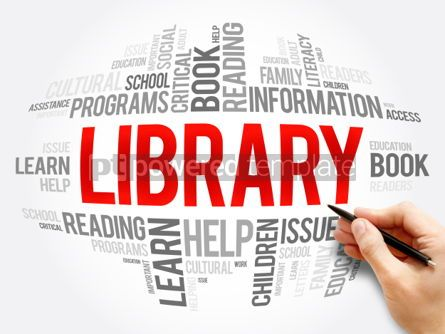 Business: Library word cloud collage #06094