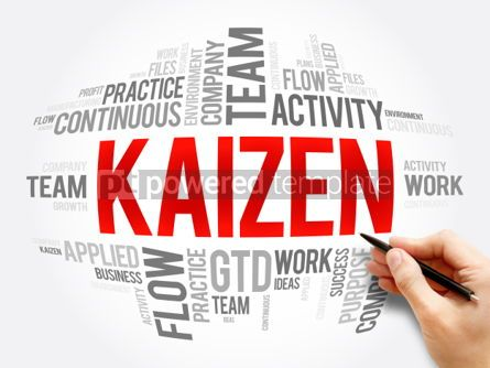 Business: Kaizen word cloud collage #06098