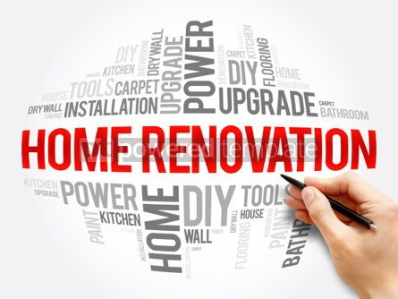 Business: Home Renovation Word Cloud #06105