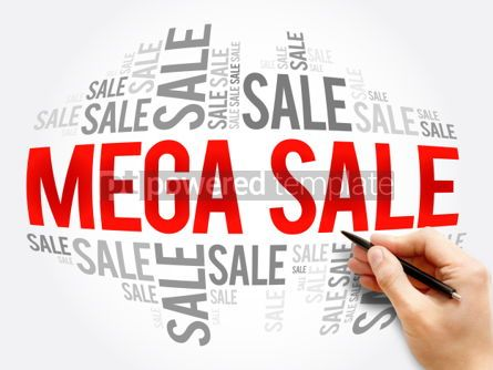 Business: MEGA SALE word cloud collage #06119