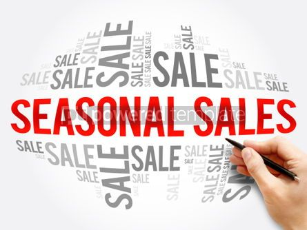Business: SEASONAL SALES word cloud collage #06131