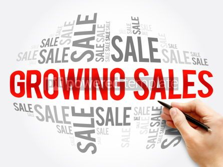 Business: Growing Sales word cloud collage #06134