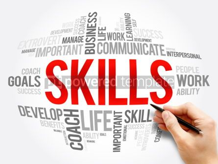 Business: SKILLS word cloud collage #06137