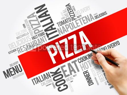Business: PIZZA word cloud collage #06142