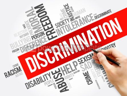 Business: Discrimination word cloud collage #06144