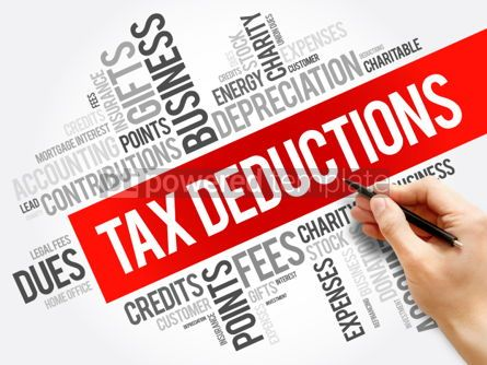 Business: Tax Deductions word cloud collage #06151