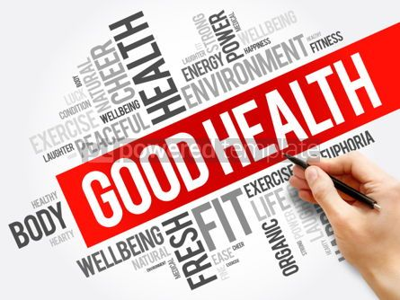 Business: Good Health word cloud collage #06155