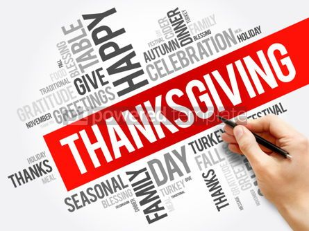 Business: Thanksgiving word cloud collage #06158