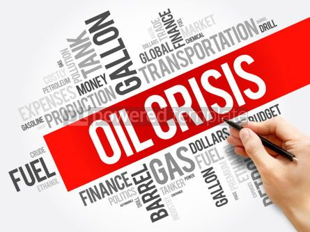 Business: Oil crisis word cloud collage #06162